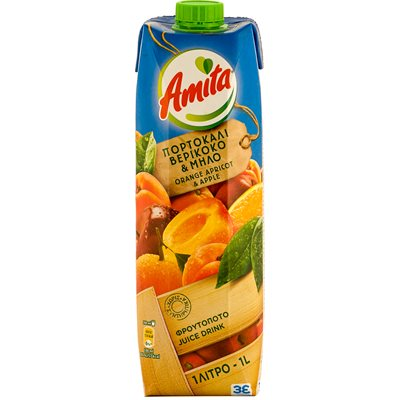 AMITA Orange, Apple & Apricot Nectar 1L