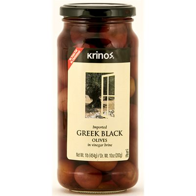 KRINOS Greek Black Olives 1lb