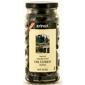 KRINOS Oil Cured Olives 12/10 oz jars