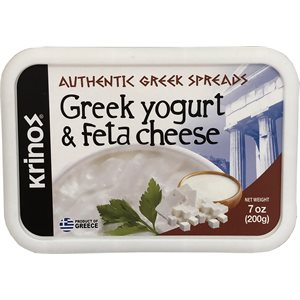KRINOS Greek Yogurt & Feta Cheese Spread 7oz