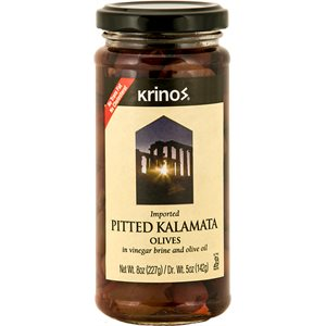 KRINOS Pitted Kalamata Olives 8oz