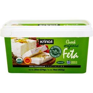 KRINOS Greek Organic Feta Cheese 400g