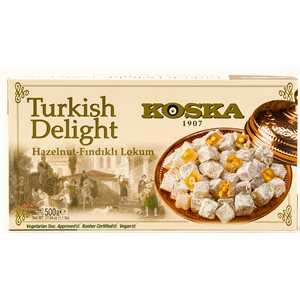 KOSKA Turkish Delight Hazelnut Lokum 500g