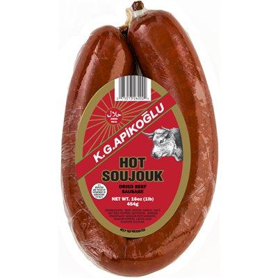 APIKOGLU Hot Halal Soujouk 1lb