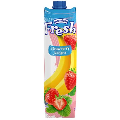 FRESH Premium Strawberry Banana Juice 1L