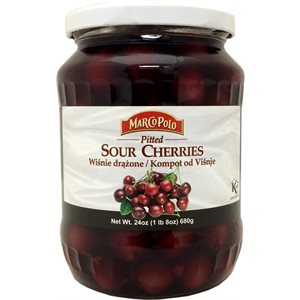 MARCO POLO Pitted Sour Cherries 24oz