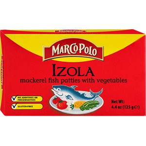 "MARCO POLO ""Izola"" Mackerel Patties with Vegetables 4.4oz"