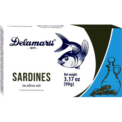 Delamaris Sardines in Olive Oil 32/90g