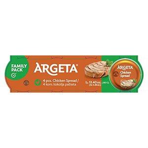 KOLINSKA Argeta Chicken Spread Family Pack 4x95g
