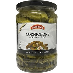 MARCO POLO Cornichons with Garlic and Dill 19.3oz