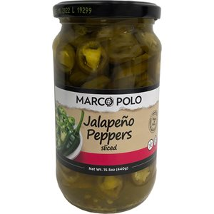 MARCO POLO Sliced Jalapeno Peppers 15.5oz