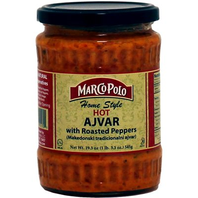 """MARCO POLO """"Homestyle"""" Hot Ajvar with roasted peppers 19.3oz"""
