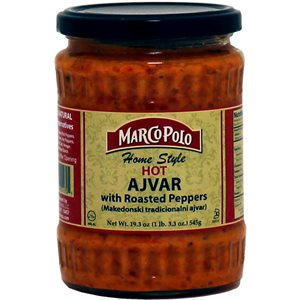 "MARCO POLO ""Homestyle"" Hot Ajvar Spread with roasted peppers 19.3oz"