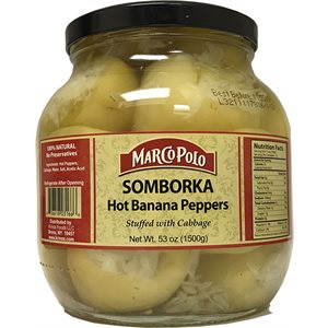 MARCO POLO Hot Banana Peppers stuffed with cabbage (Somborka) 1500g