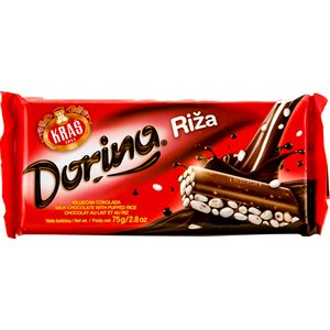 KRAS Dorina Chocolate with Puffed Rice 75g
