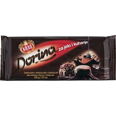 KRAS Dorina Dark Baking Chocolate 100g