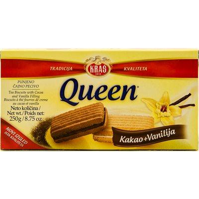 KRAS Queen Kakao & Vanilija Cookies 250g