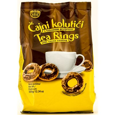 KRAS Tea Rings with Cocoa Coating 350g