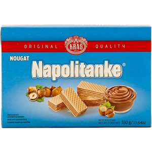 KRAS Napolitanke Nougat Wafers 330g