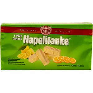 KRAS Napolitanke Lemon-Orange Wafers 420g
