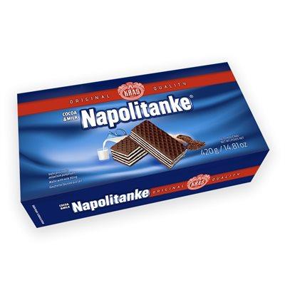 KRAS Napolitanke Cocoa and Milk Wafers 420g