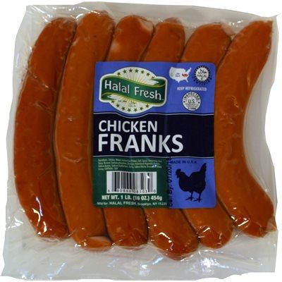 HALAL FRESH Chicken Frankfurters 1lb