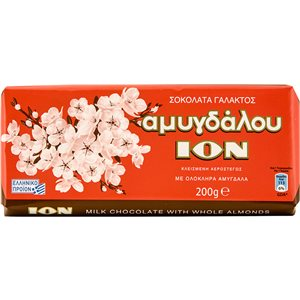 ION Chocolate with almonds 200g